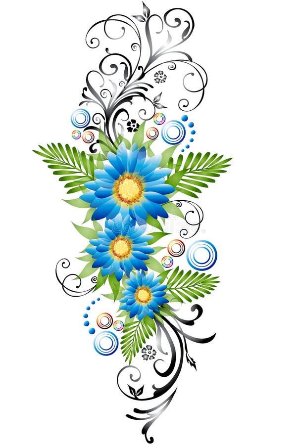 bordo floreale illustrazione di stock