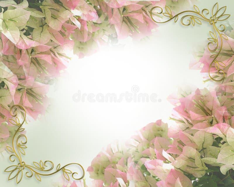 Bordo floreale per la scheda o l'invito royalty illustrazione gratis