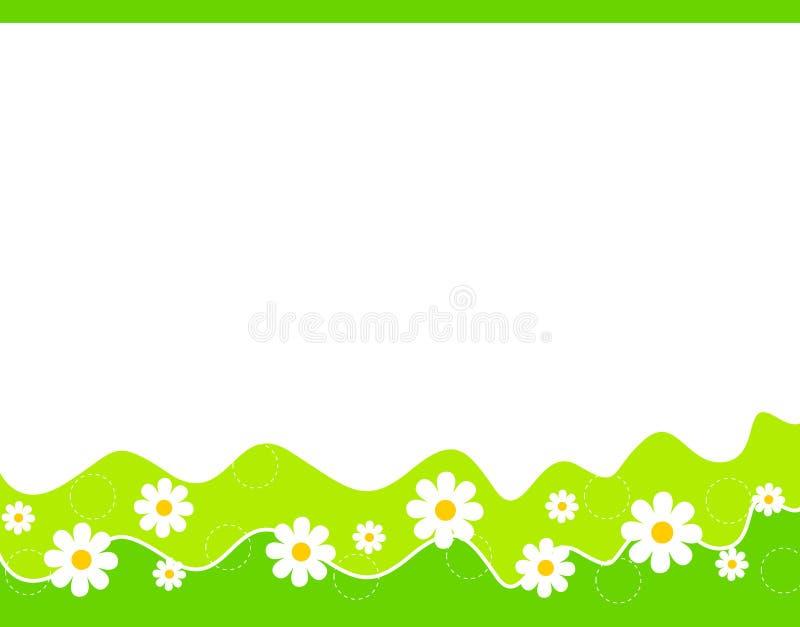 Bordo floreale - primavera ed estate illustrazione vettoriale