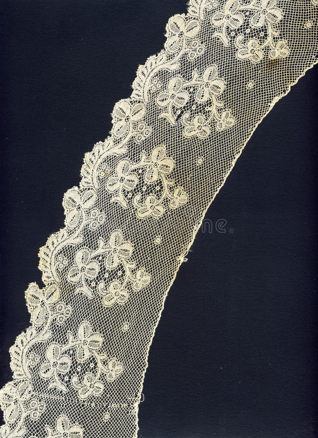 bordo fragile del merletto 1800 immagini stock