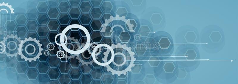 Bordo futuristico astratto b di tecnologia di Internet del computer del circuito illustrazione di stock