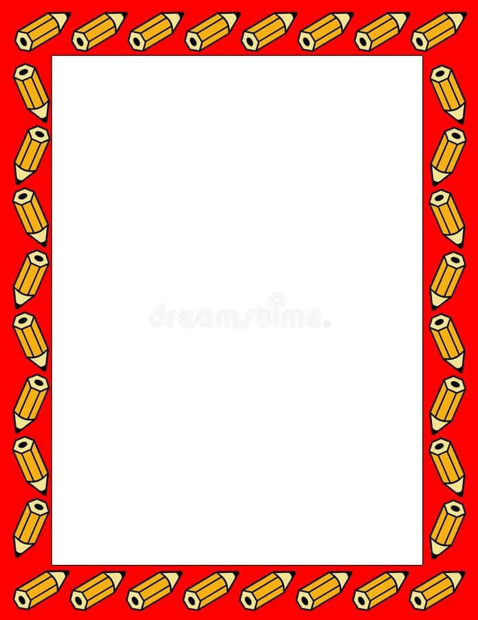 Bordo illustrato delle matite royalty illustrazione gratis