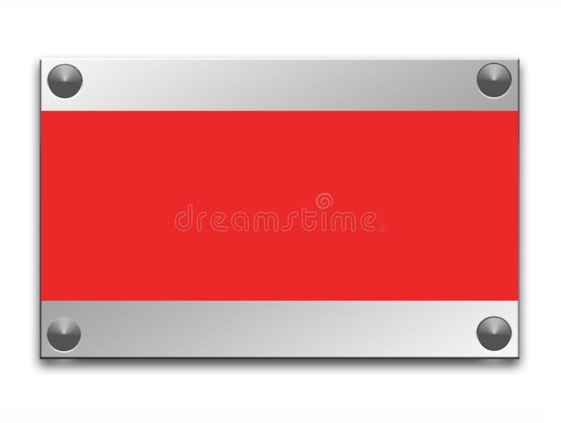 Bordo metallico illustrazione di stock