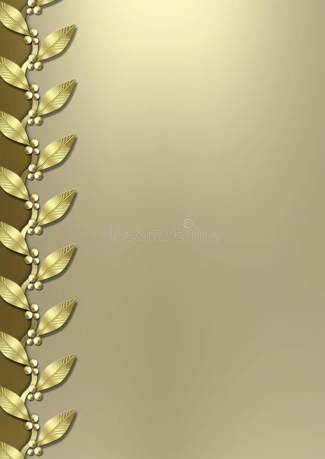 Bordo metallico del foglio di oro di art deco fotografie stock libere da diritti
