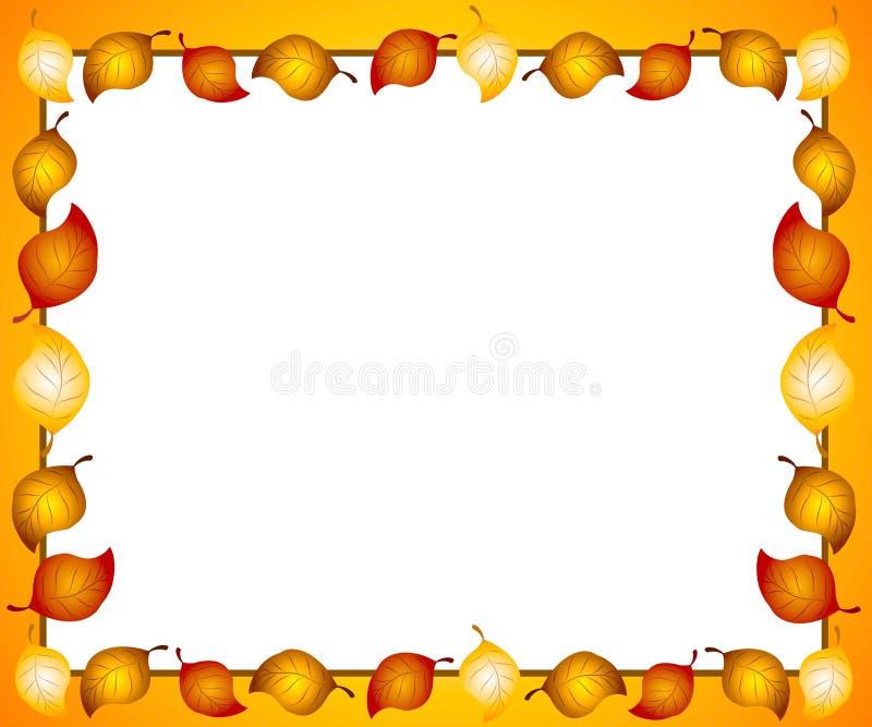 Bordo o blocco per grafici dei fogli di autunno royalty illustrazione gratis
