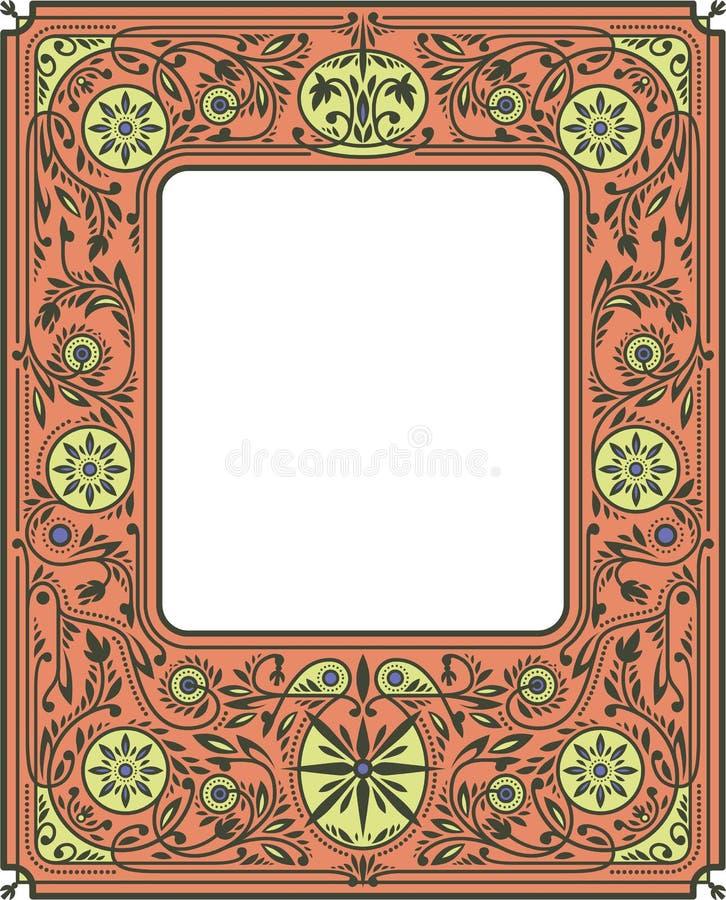 Bordo o cornice floreale autunnale royalty illustrazione gratis