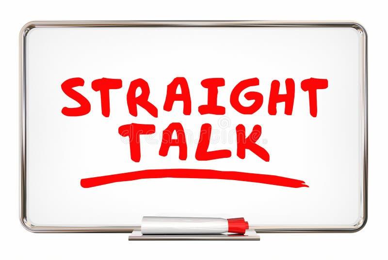 Bordo onesto di parole di scrittura di discussione di conversazione diritta illustrazione vettoriale