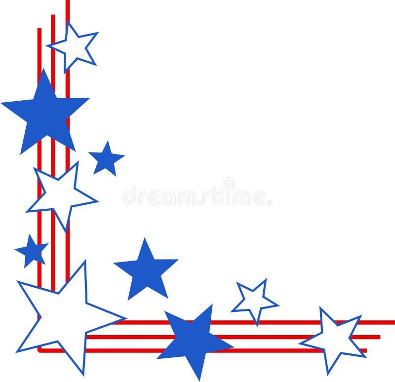 Bordo patriottico illustrazione vettoriale
