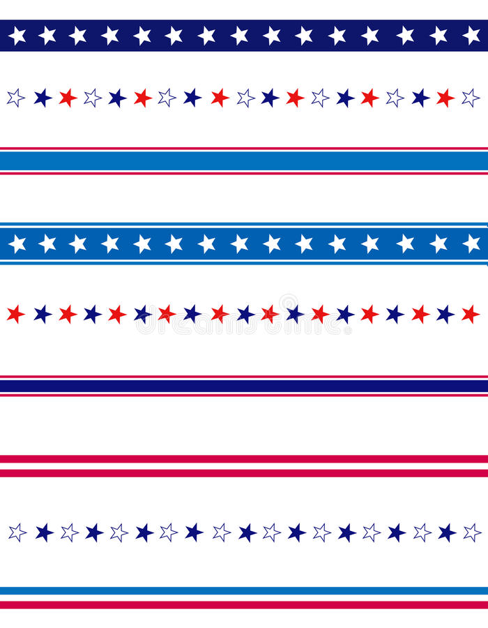 Bordo patriottico del divisore royalty illustrazione gratis
