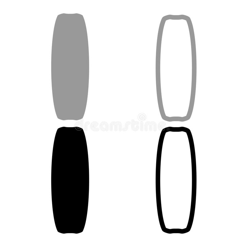 Bordo per l'illustrazione di colore nera grigia stabilita dell'icona di sport di kiteboard royalty illustrazione gratis