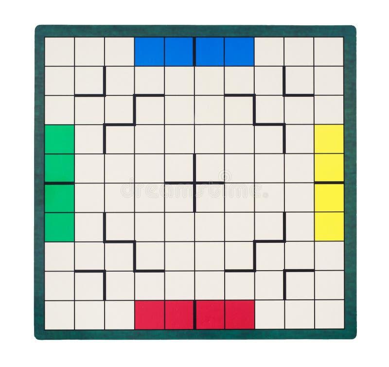 Bordo quadrato vuoto del gioco fotografia stock libera da diritti