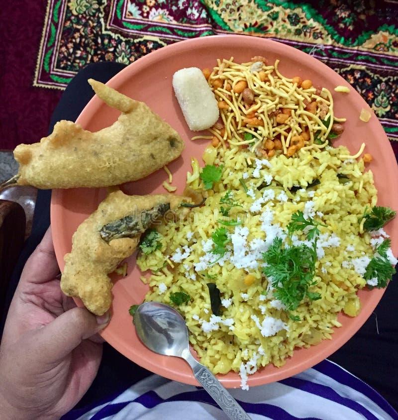 Bordo que estala o café da manhã de Karnataka norte imagens de stock