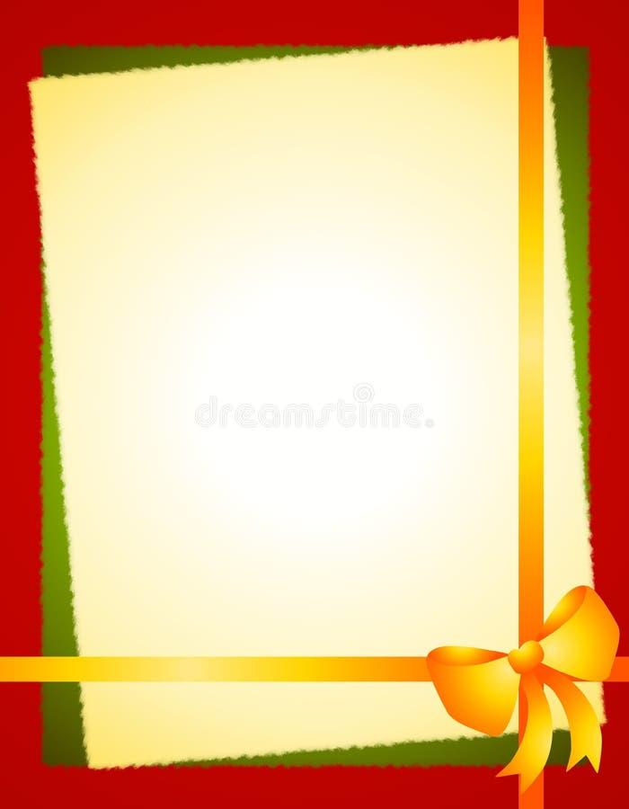 Bordo rosso verde dell'arco di natale dell'oro illustrazione vettoriale
