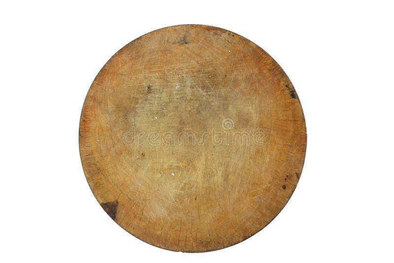 Bordo shoping di legno, segno shoping del bordo di stile tailandese dal ceppo di legno Isolato su priorità bassa nera fotografie stock libere da diritti