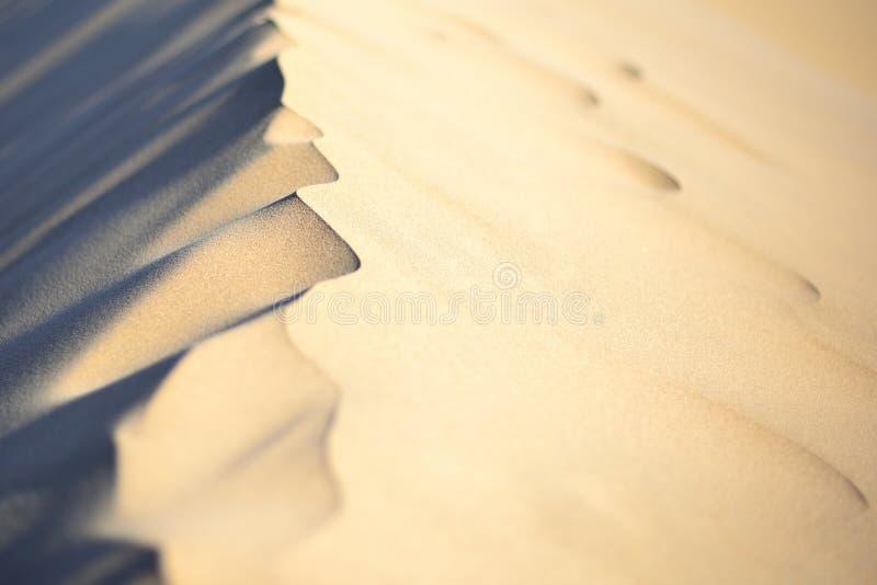 Bordo superiore della duna di sabbia immagini stock
