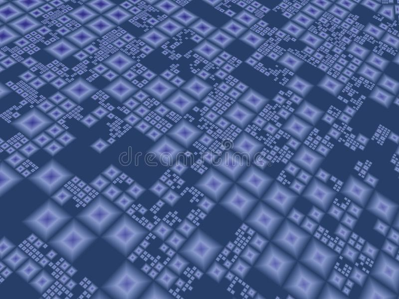 Bordo techno blu astratto illustrazione vettoriale