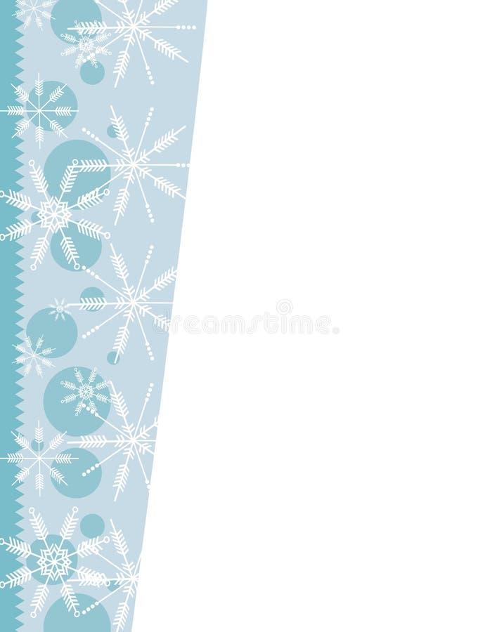 Bordo unico di natale dei fiocchi di neve illustrazione di stock