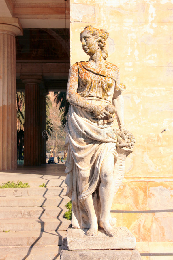 bordonaro posągów wejściowa willa zdjęcia stock