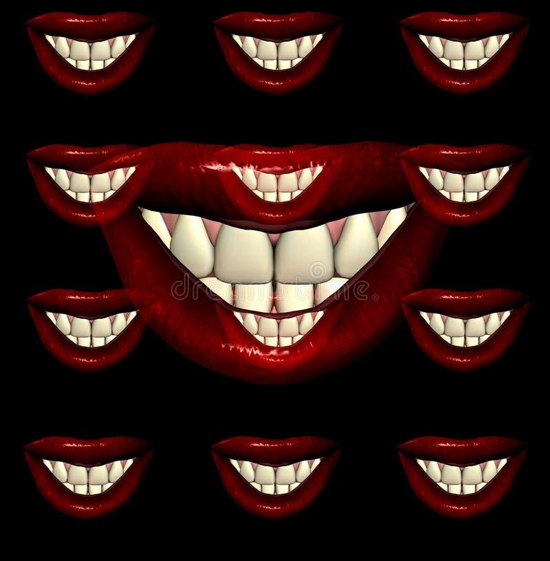 Bordos 9 do beijo ilustração royalty free