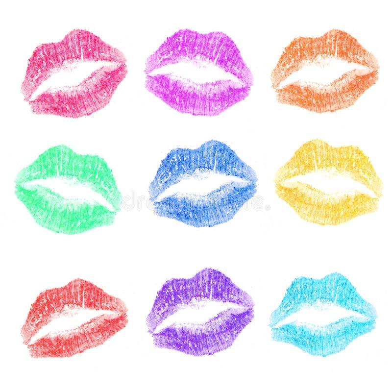 Bordos coloridos de Kissy foto de stock