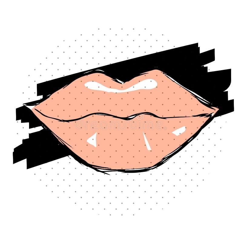 Bordos cor-de-rosa fêmeas tirados perto ilustração stock