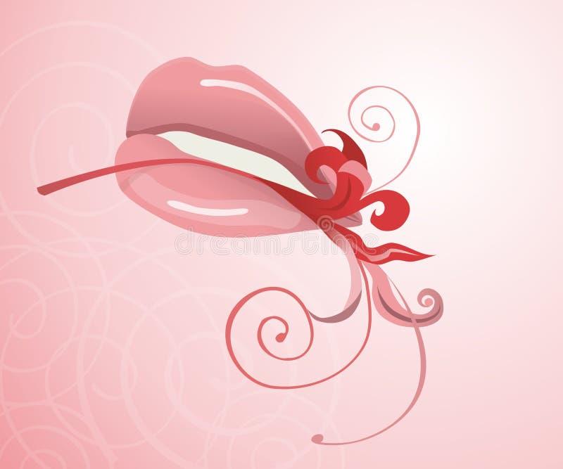 Bordos e flor ilustração stock