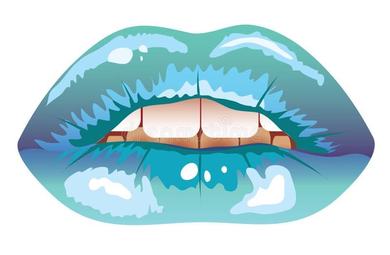 Bordos geados azuis 'sexy' ilustração do vetor
