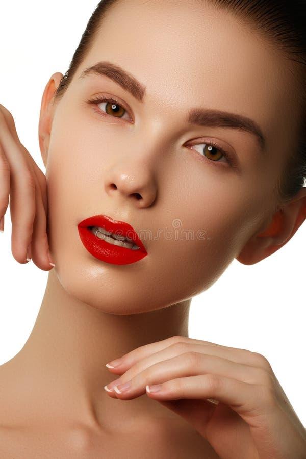 Bordos 'sexy' Detalhe vermelho da composição dos bordos da beleza Clos bonitos da composição imagens de stock royalty free