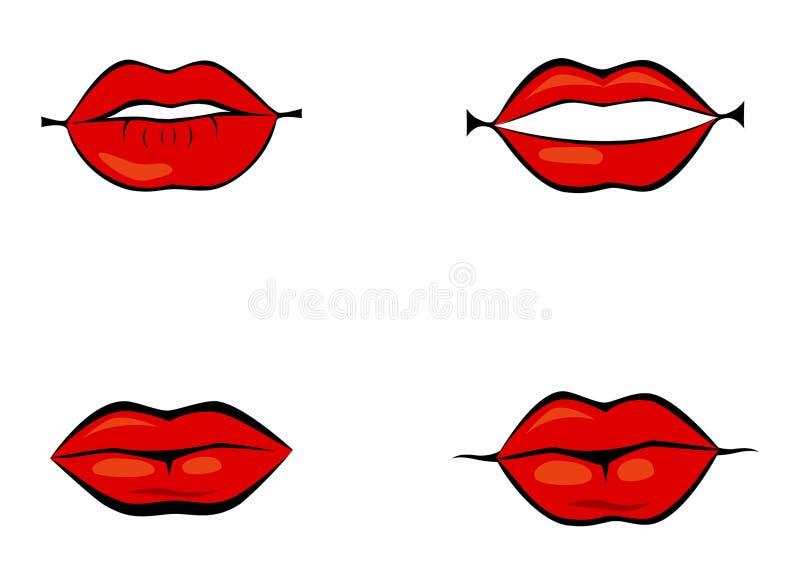 Bordos vermelhos ajustados ilustração royalty free