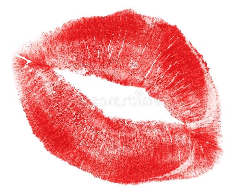 Bordos vermelhos encantadores da mulher, tamanho de arquivo de XXL foto de stock
