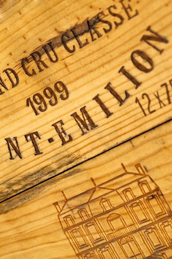 Bordoska wino etykietka obrazy royalty free