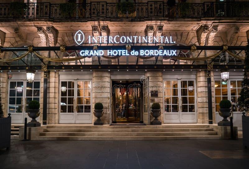 Bordowie, Francja, 8 mogą 2018 - wejście Uroczysty hotel de fotografia stock