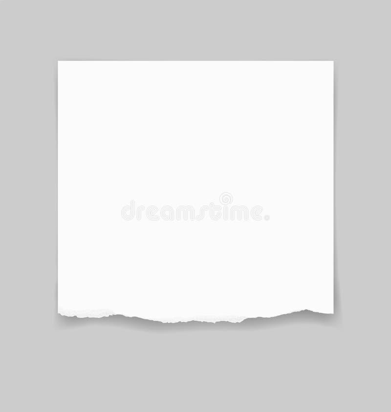 Bords de papier déchirés pour le fond Fond déchiré de texture de papier illustration libre de droits
