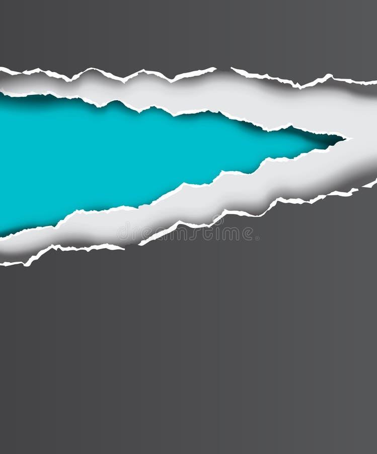 Bords de papier déchirés de vecteur illustration de vecteur
