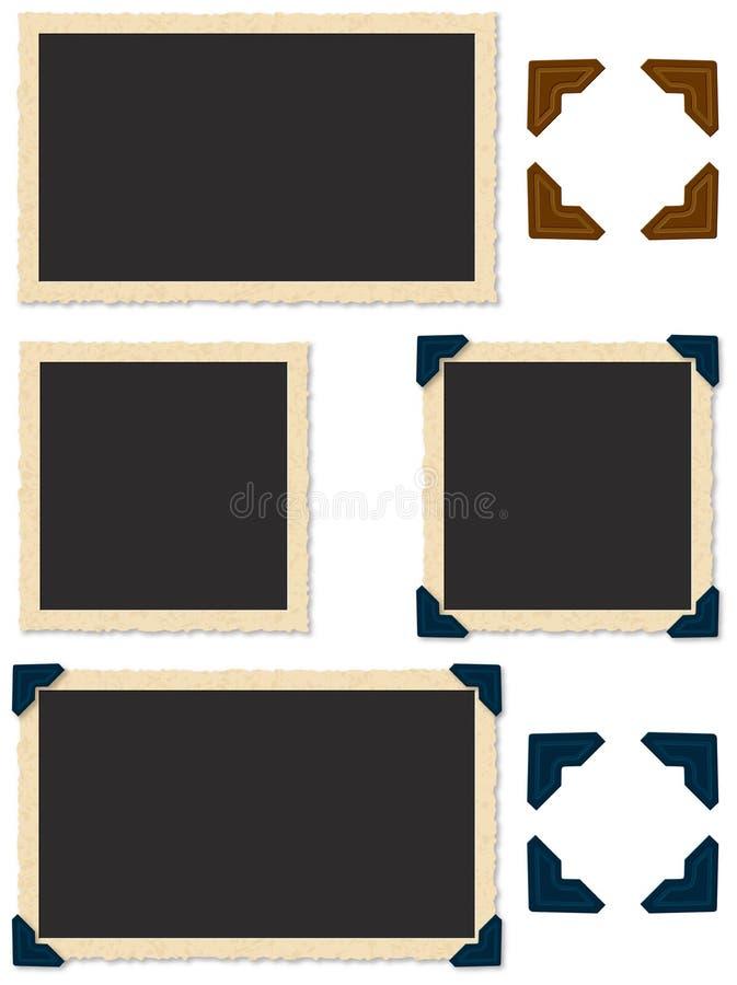 Bords de photo d'Antigue illustration stock