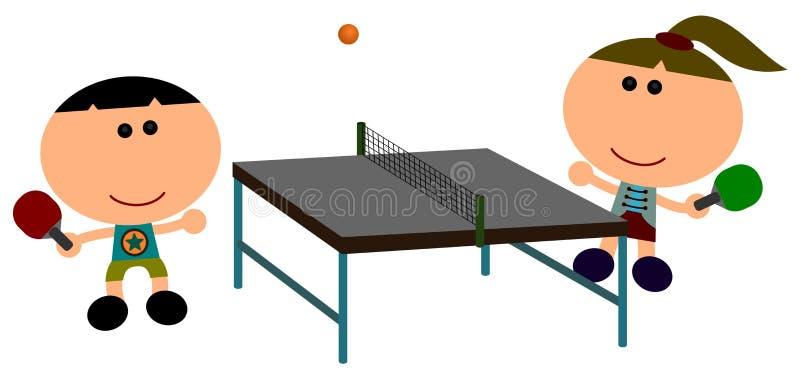 bordtennis vektor illustrationer
