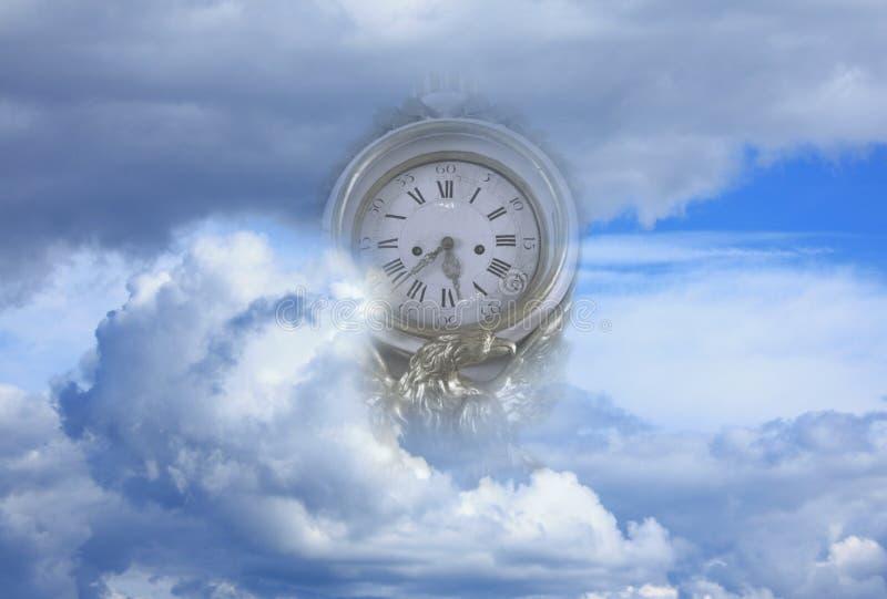 Borduhr in den Wolken lizenzfreie stockbilder