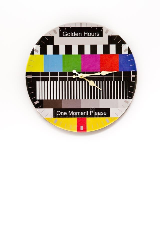 Borduhr mit Prüfungsbild lizenzfreies stockbild