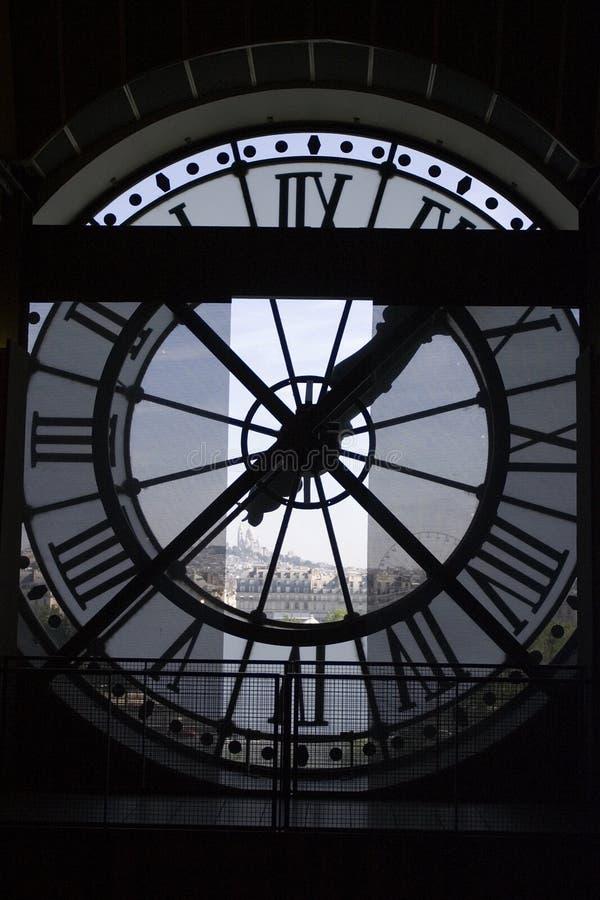 Borduhr am Orsay Museum lizenzfreies stockfoto
