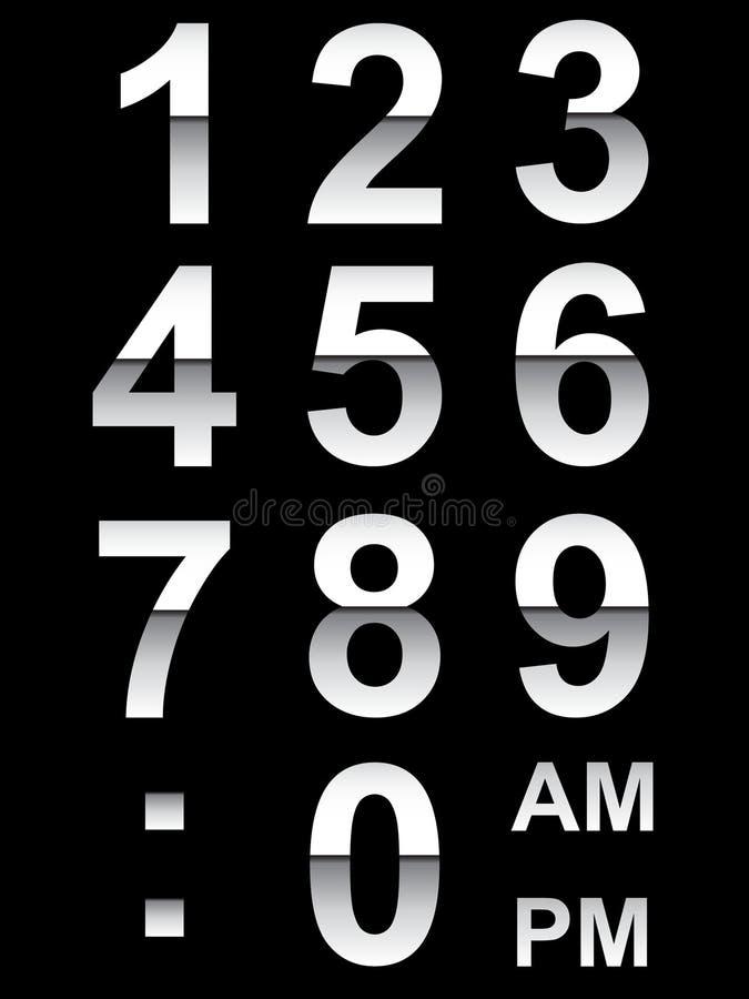 Borduhr-Zahlen stock abbildung