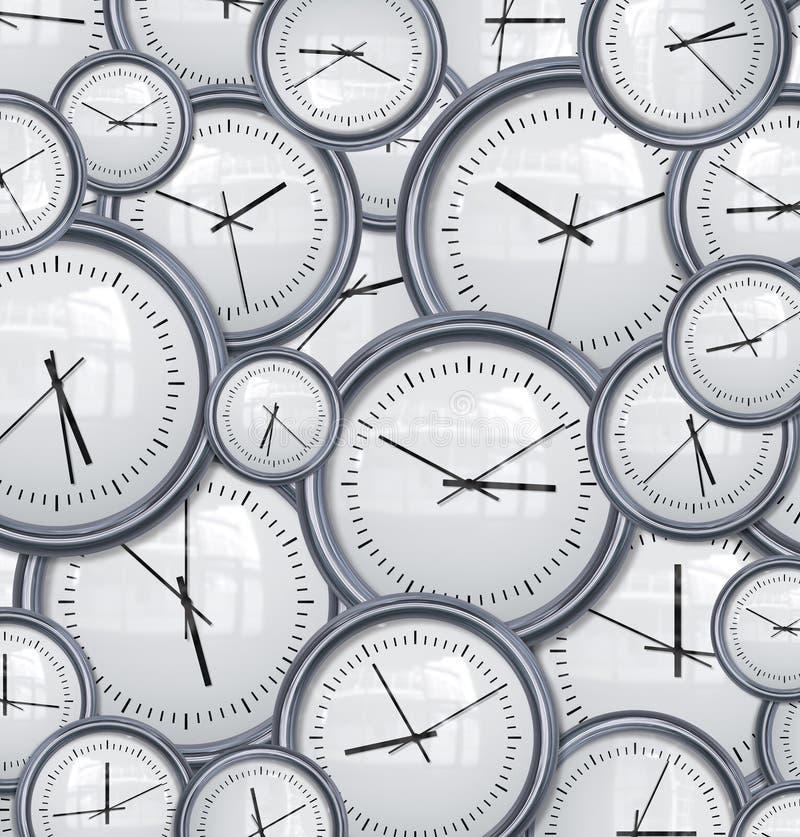 Borduhren und Zeithintergrund stock abbildung