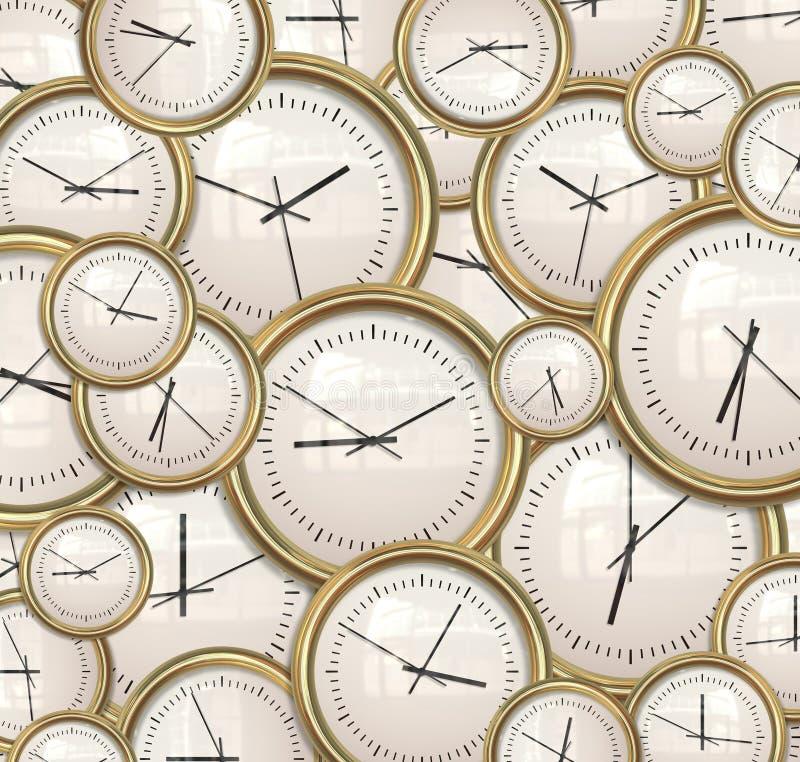 Borduhren und Zeithintergrund lizenzfreie abbildung