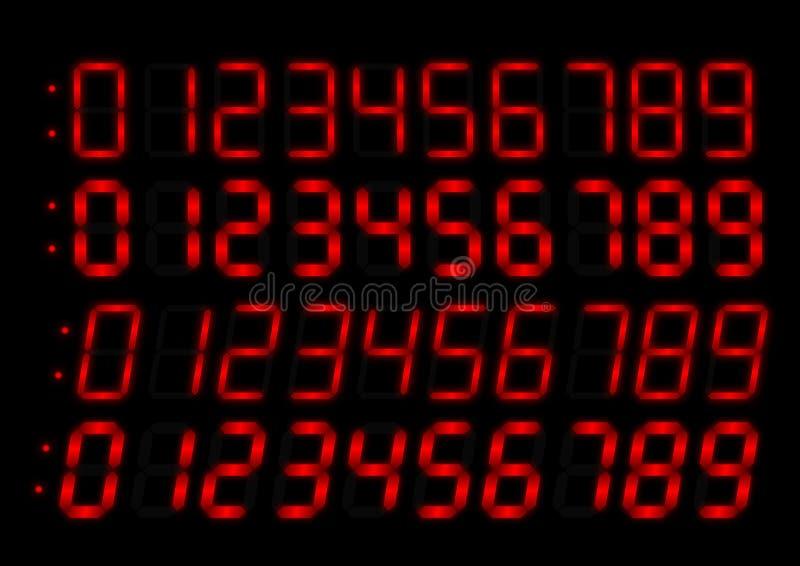 Borduhrfunk-Rotzahlen lizenzfreie abbildung