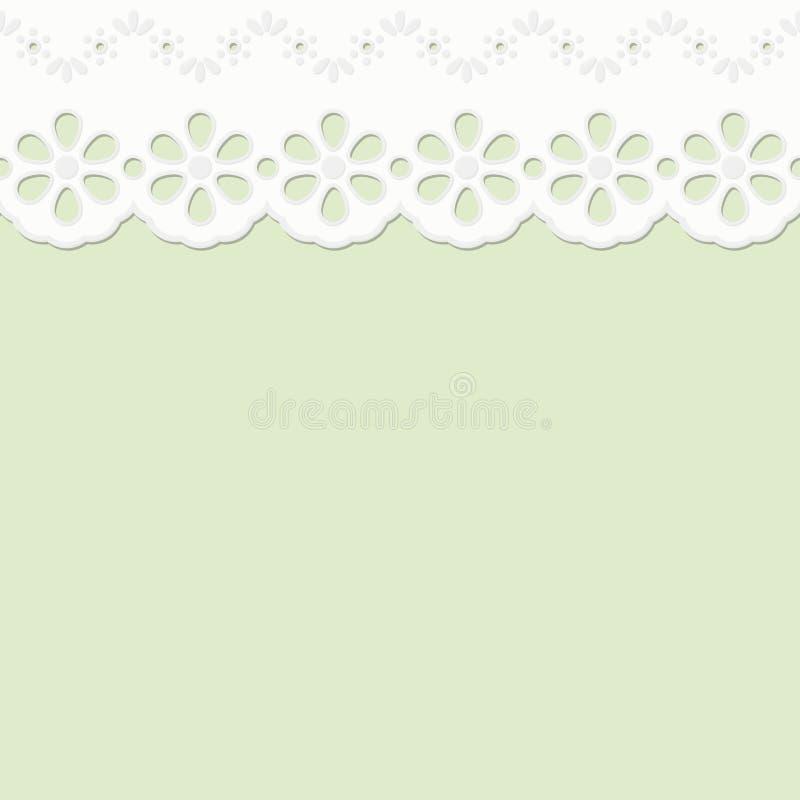 Bordura su fondo colorato - senza fine illustrazione di stock