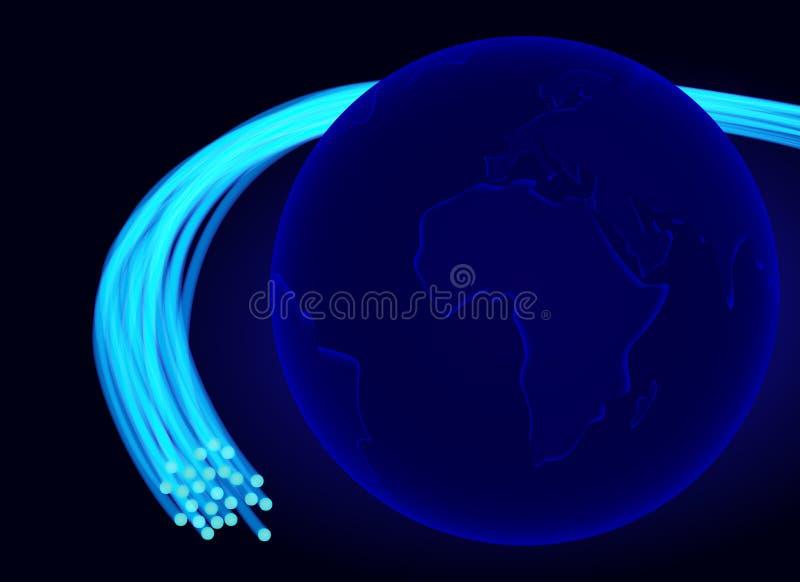 Bordure optique de fibre le monde photo libre de droits