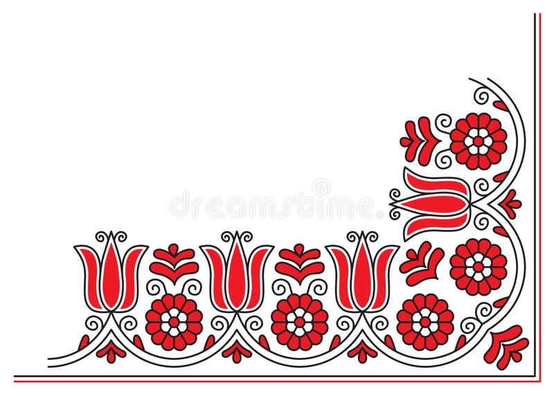 Borduurwerk vector illustratie
