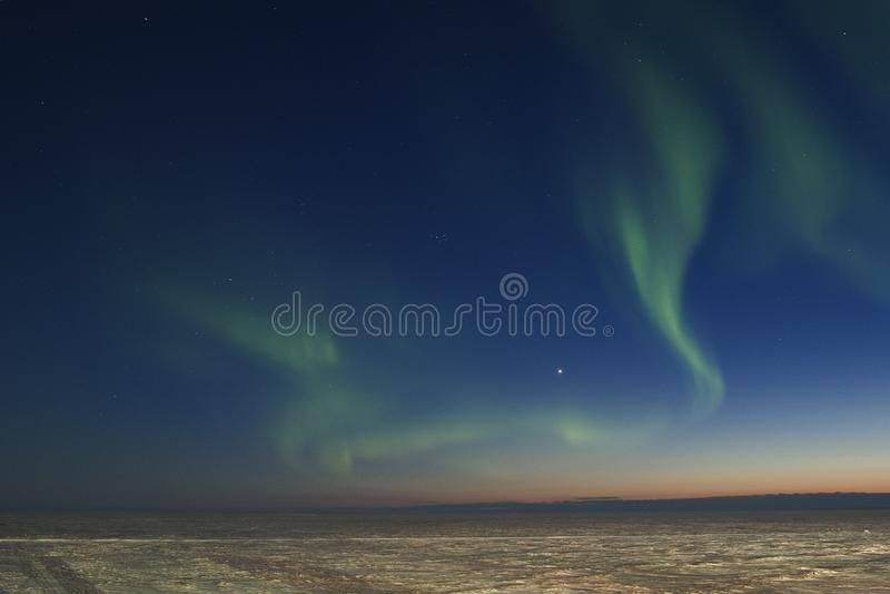 Aurora borealis caotico fotografie stock