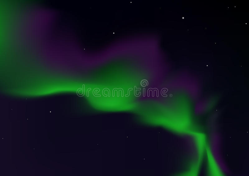 Borealis da Aurora ilustração do vetor