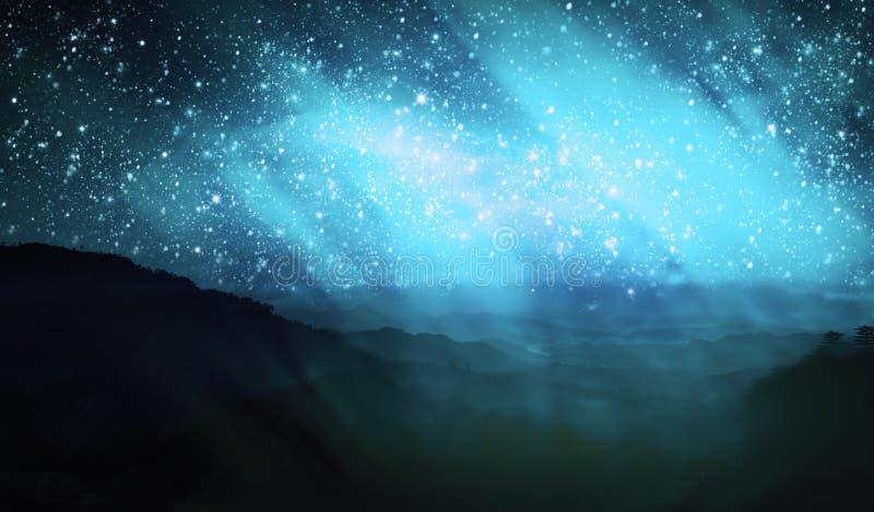 Borealis da Aurora ilustração stock