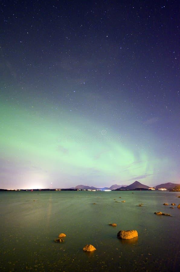 Borealis da Aurora foto de stock